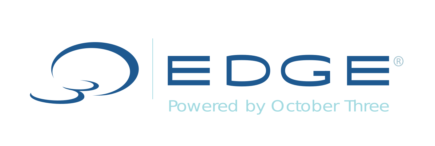 O3edge logo blue
